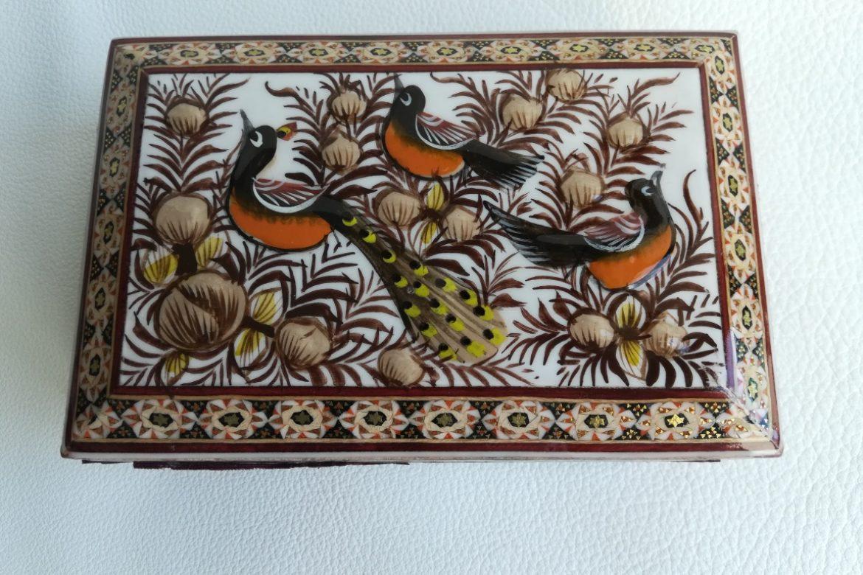 Boite marqueterie peinte - galerie Shirazi - Pau - 2-1