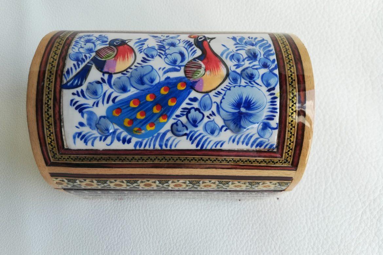 Boite marqueterie peinte - galerie Shirazi - Pau - 4-1