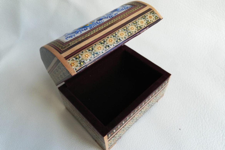 Boite marqueterie peinte - galerie Shirazi - Pau - 4