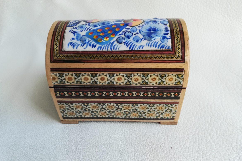 Boite marqueterie peinte - galerie Shirazi - Pau - 4-2