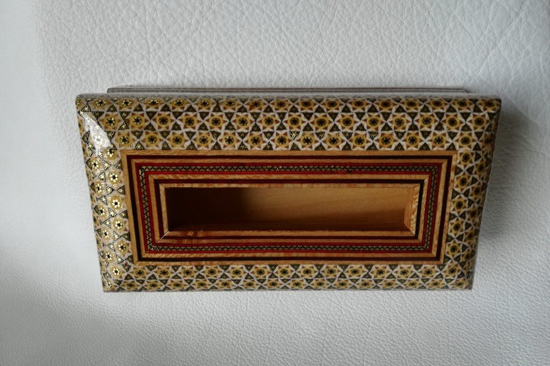 Boite mouchoirs marqueterie-Galerie Shirazi-Pau-J1