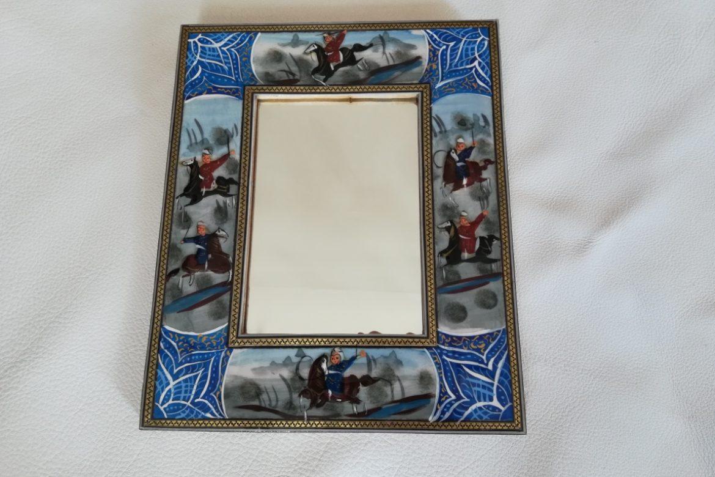 Cadre Miroir marqueterie peinture - Galerie Shirazi - Pau 19
