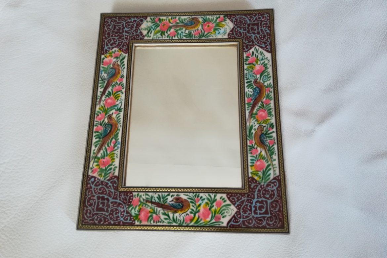 Cadre Miroir marqueterie peinture - Galerie Shirazi - Pau 20