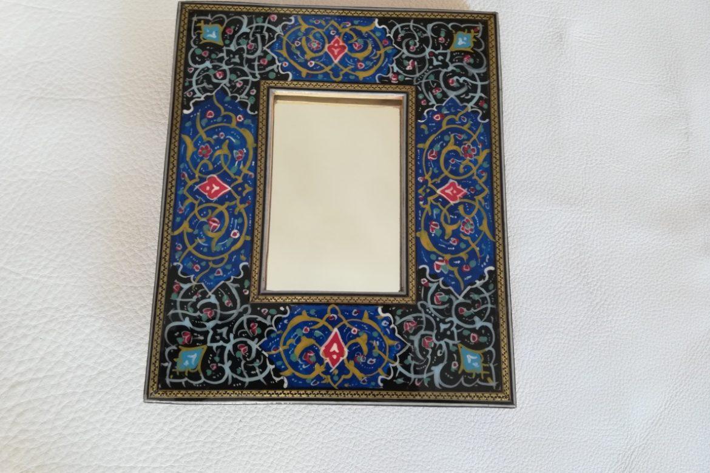 Cadre Miroir marqueterie peinture - Galerie Shirazi - Pau 5