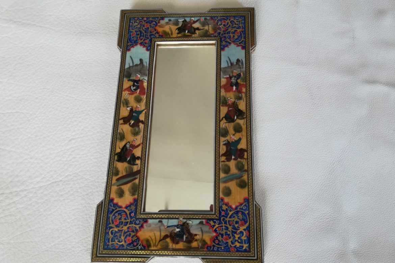 Cadre Miroir marqueterie peinture -coins doubles - Galerie Shirazi - Pau 7