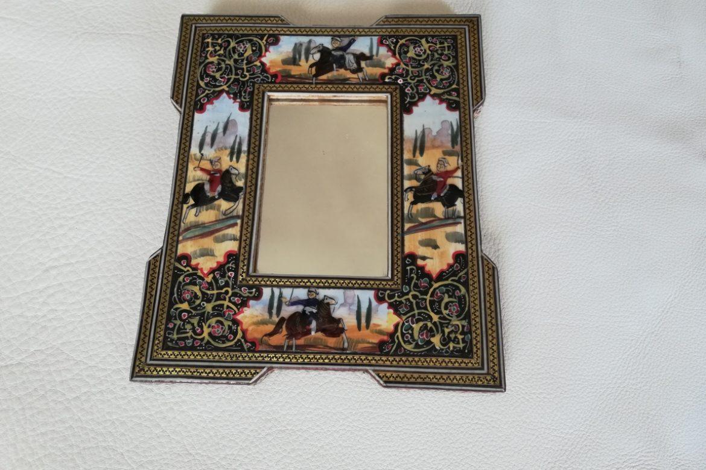 Cadre Miroir marqueterie peinture -coins doubles - Galerie Shirazi - Pau 8