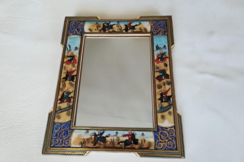 Cadre Miroir marqueterie peinture -coins doubles - Galerie Shirazi - Pau 9