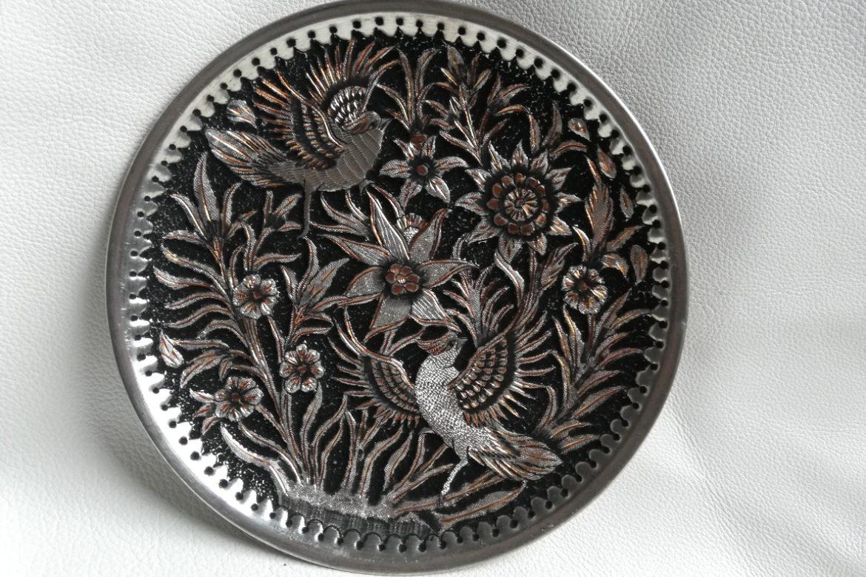 Assiette cuivre ciselé-Galerie Shirazi-Pau-S2-40