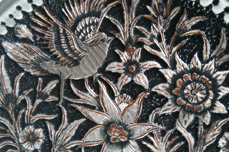 Assiette cuivre ciselé-Galerie Shirazi-Pau-S2-40a