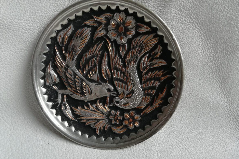 Assiette cuivre ciselé-Galerie Shirazi-Pau-S2-41