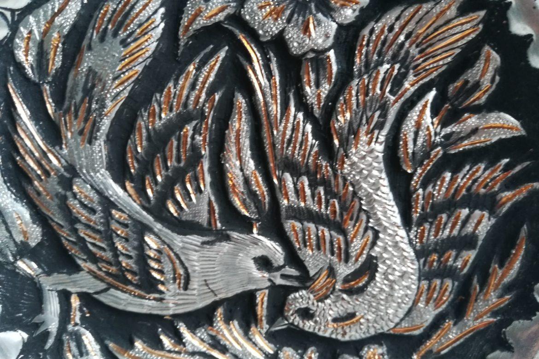 Assiette cuivre ciselé-Galerie Shirazi-Pau-S2-41a