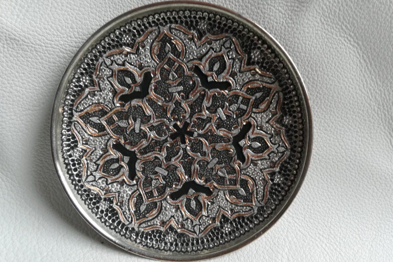 Assiette cuivre ciselé-Galerie Shirazi-Pau-S2-43