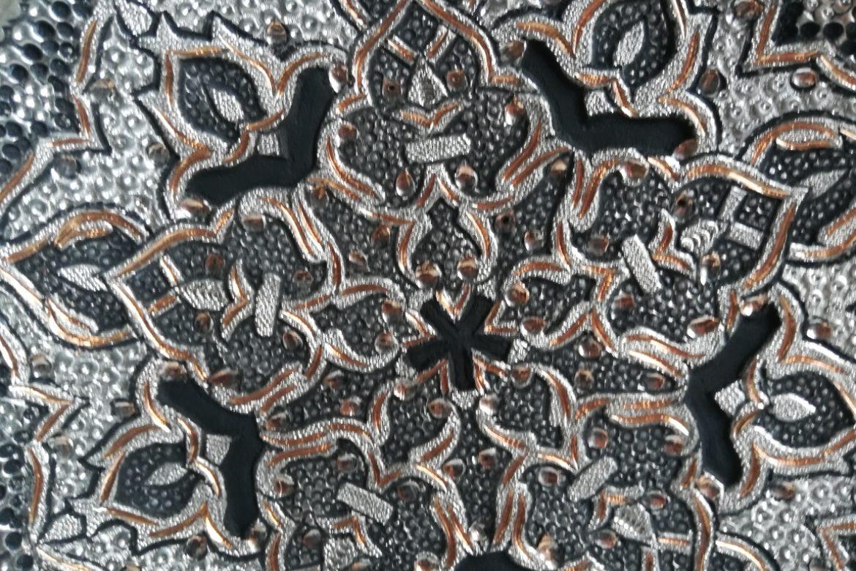 Assiette cuivre ciselé-Galerie Shirazi-Pau-S2-43a