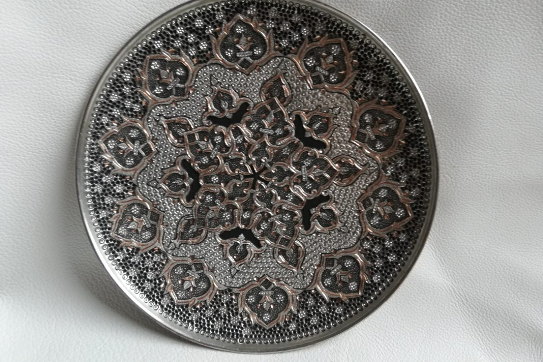 Assiette cuivre ciselé-Galerie Shirazi-Pau-S2-45