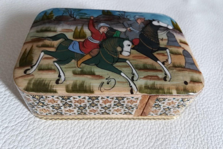 Boite Miniature-marqueterie peinte-Galerie Shirazi-Pau-J13