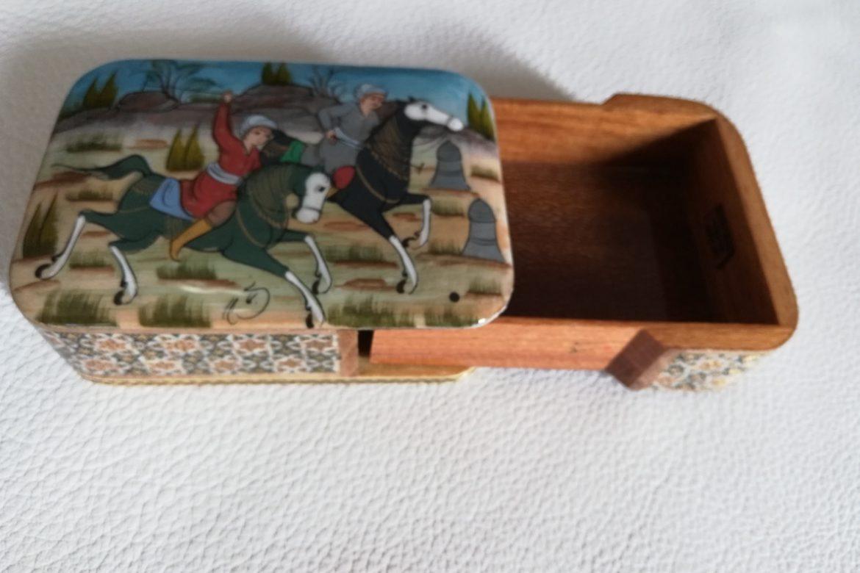 Boite Miniature-marqueterie peinte-Galerie Shirazi-Pau-J13a
