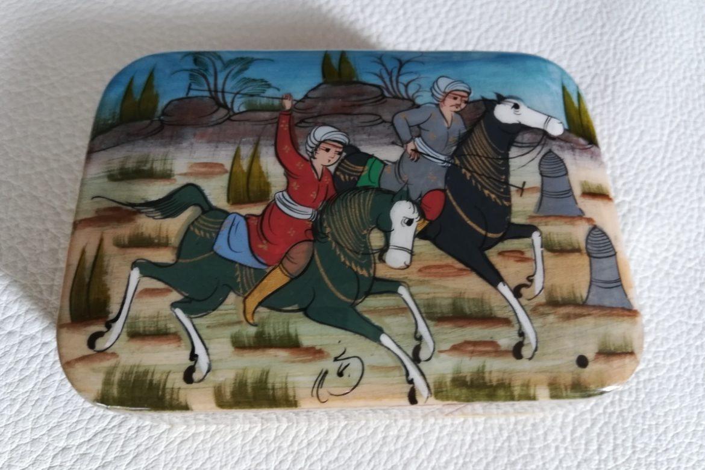 Boite Miniature-marqueterie peinte-Galerie Shirazi-Pau-J13b