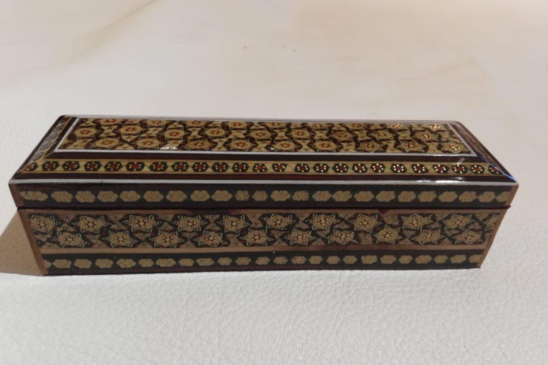 Boite plumier marqueterie-Galerie Shirazi-Pau- S2-24a