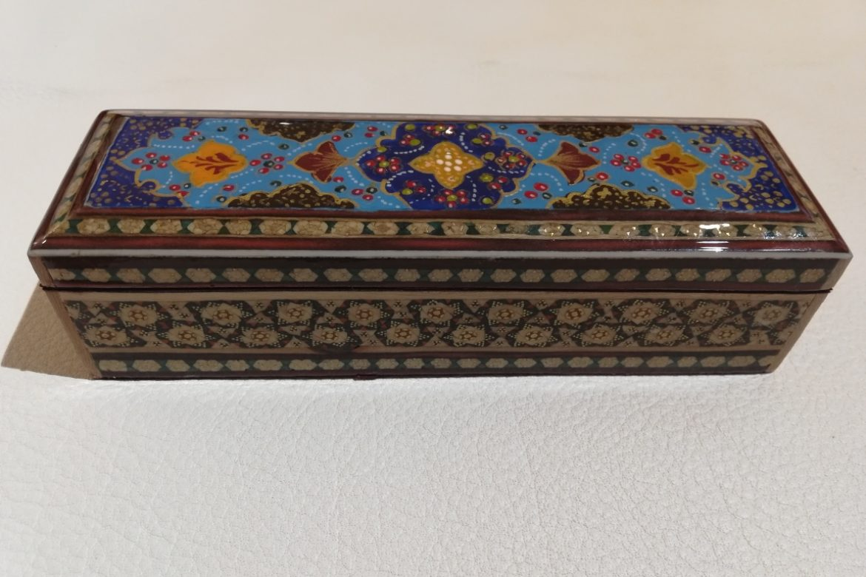 Boite plumier marqueterie peinte-Galerie Shirazi-Pau- S2-27