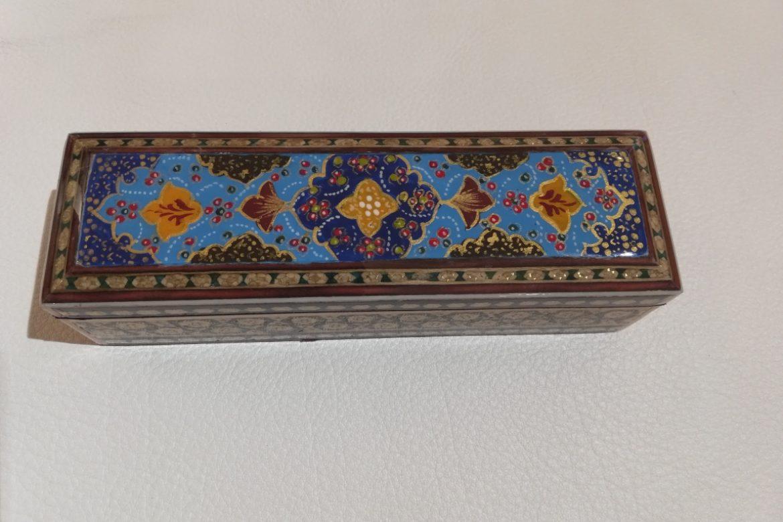 Boite plumier marqueterie peinte-Galerie Shirazi-Pau- S2-27b