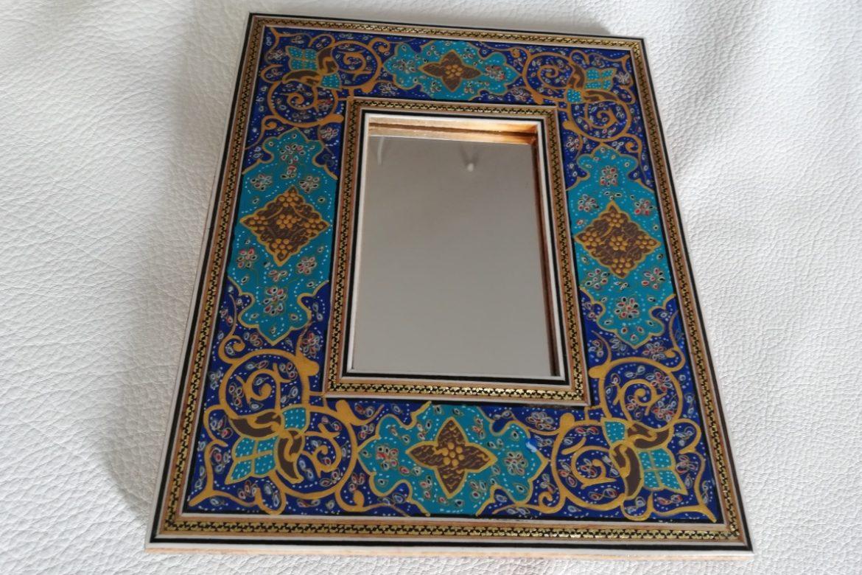 Cadre miroir-marqueterie peinte-Galerie Shirazi-Pau-J11
