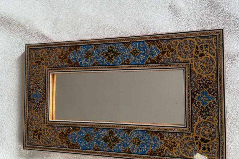 Cadre miroir-marqueterie peinte-Galerie Shirazi-Pau-J9