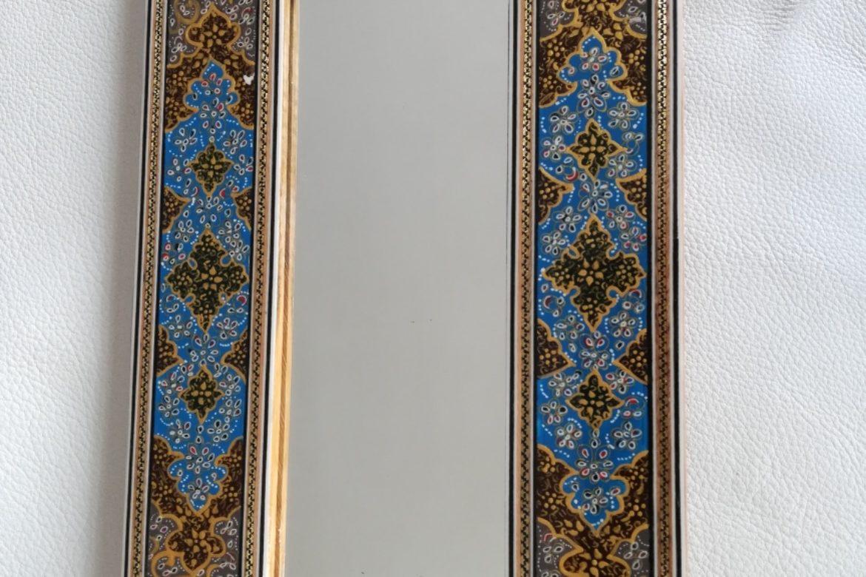 Cadre miroir-marqueterie peinte-Galerie Shirazi-Pau-J9a