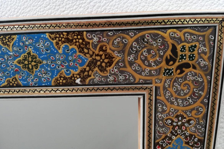 Cadre miroir-marqueterie peinte-Galerie Shirazi-Pau-J9c