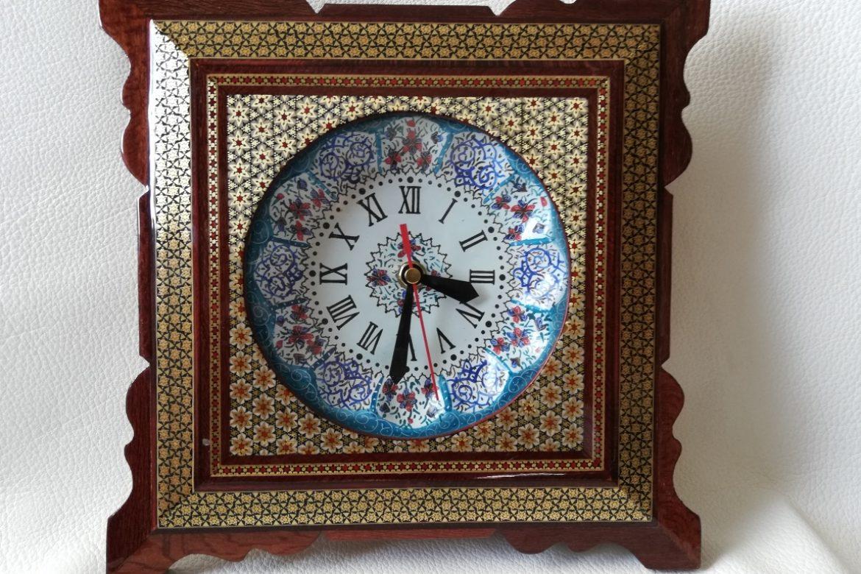 Horloge marqueterie-Galerie Shirazi-Pau-10c