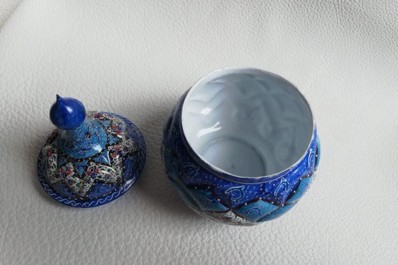Sucrier cuivre émaillé-Galerie Shirazi-Pau-S2-33