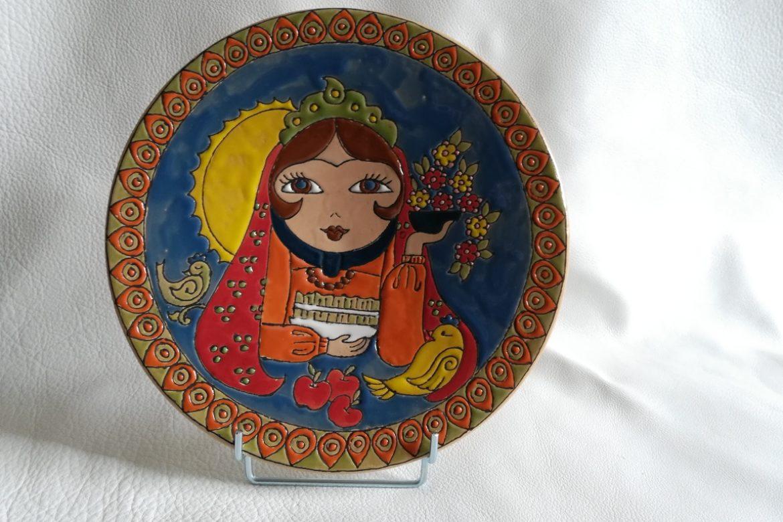 Assiette perse céramique_Galerie Shirazi_Pau.B34S
