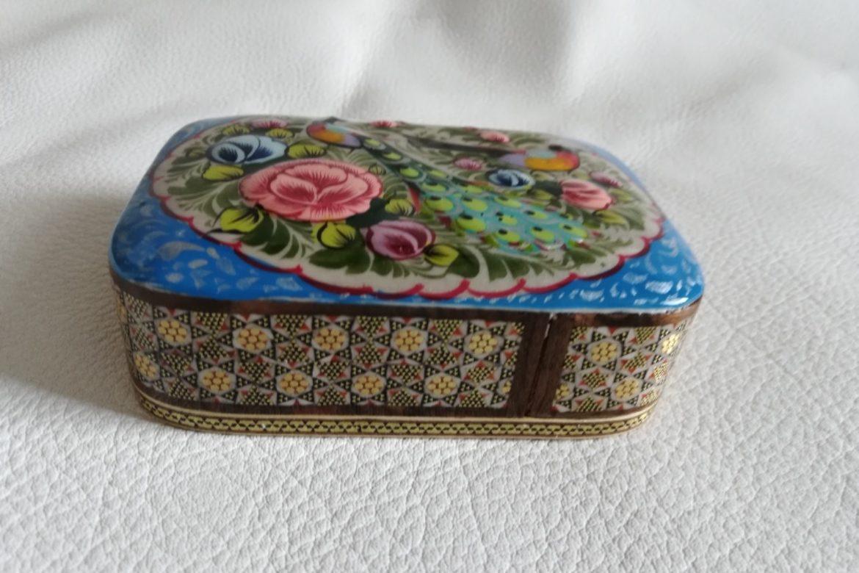 Boite marqueterie miniature persane peinte_Galerie Shirazi_Pau_A9SD