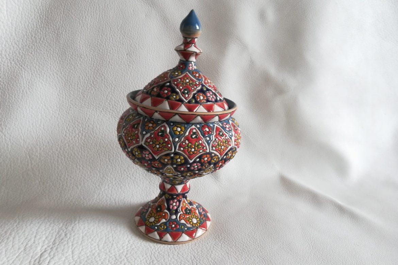 Bonbonnière perse céramique_Galerie Shirazi_Pau_B27SA