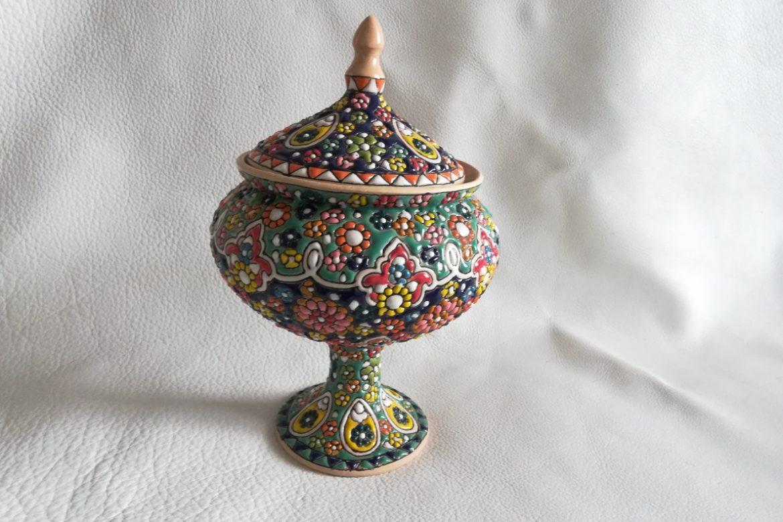 Bonbonnière perse céramique_Galerie Shirazi_Pau_B27SB