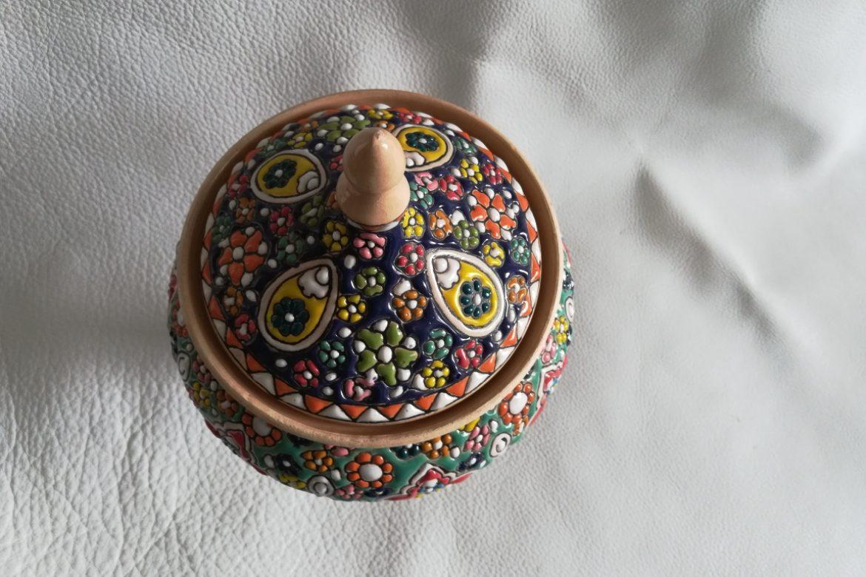 Bonbonnière perse céramique_Galerie Shirazi_Pau_B27SB.b