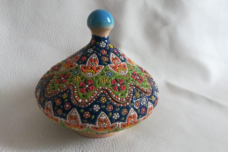Bonbonnière perse céramique_Galerie Shirazi_Pau_B28S