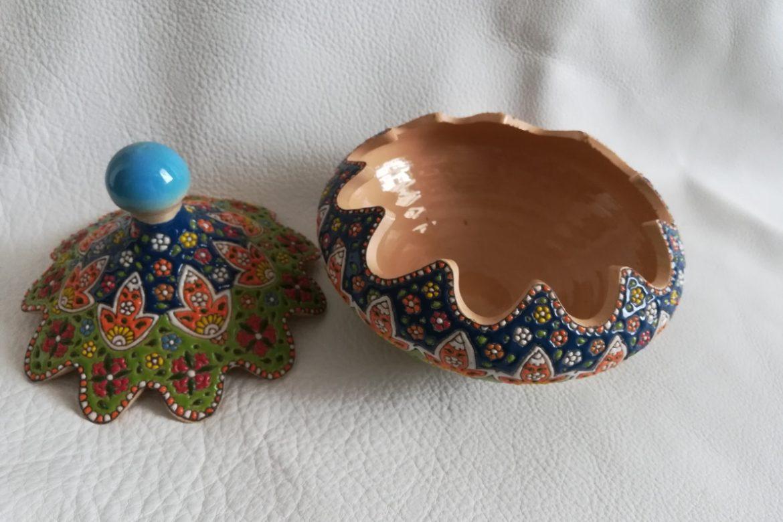 Bonbonnière perse céramique_Galerie Shirazi_Pau_B28S.a
