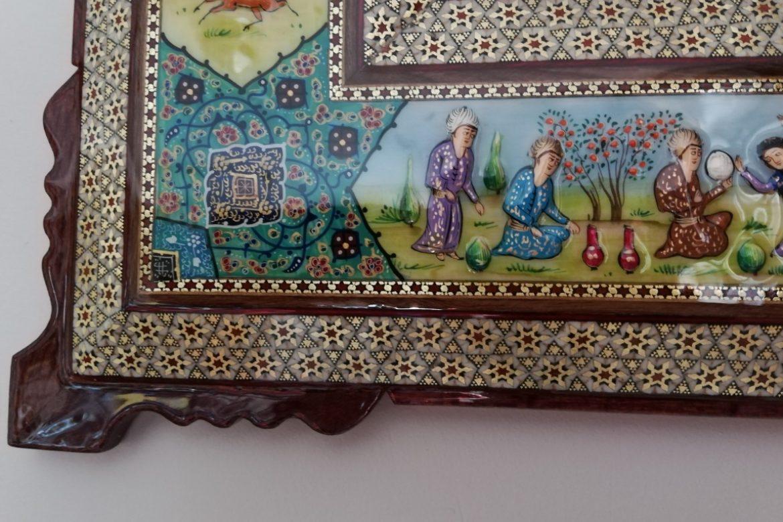 Cadre miroir marqueterie Miniatures_Galerie Shirazi_Pau_A22S-1