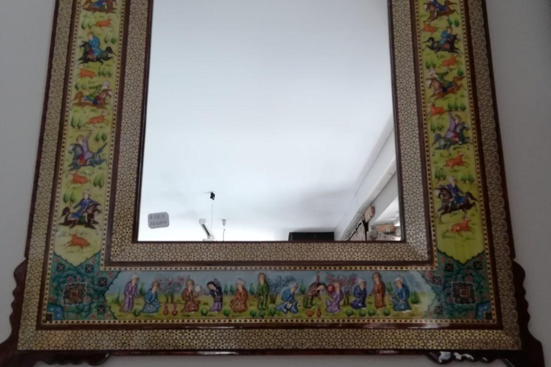 Cadre miroir marqueterie Miniatures_Galerie Shirazi_Pau_A22S