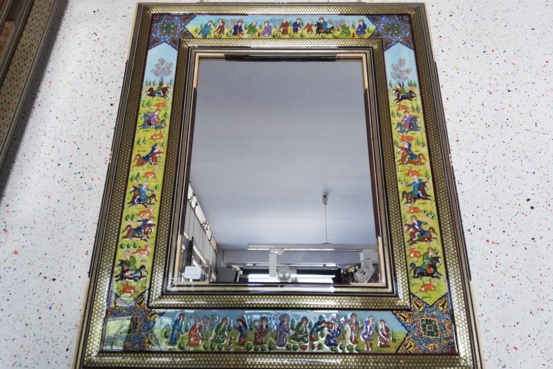 Cadre miroir marqueterie Miniatures_Galerie Shirazi_Pau_A24S