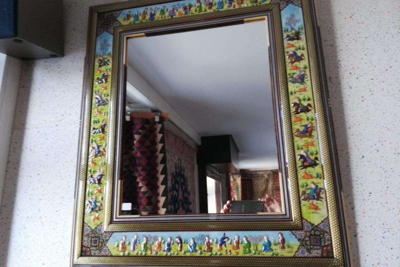 Cadre miroir marqueterie Miniatures_Galerie Shirazi_Pau_A30SA