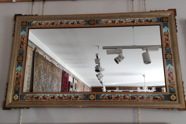 Cadre miroir marqueterie Miniatures_Galerie Shirazi_Pau_A37S