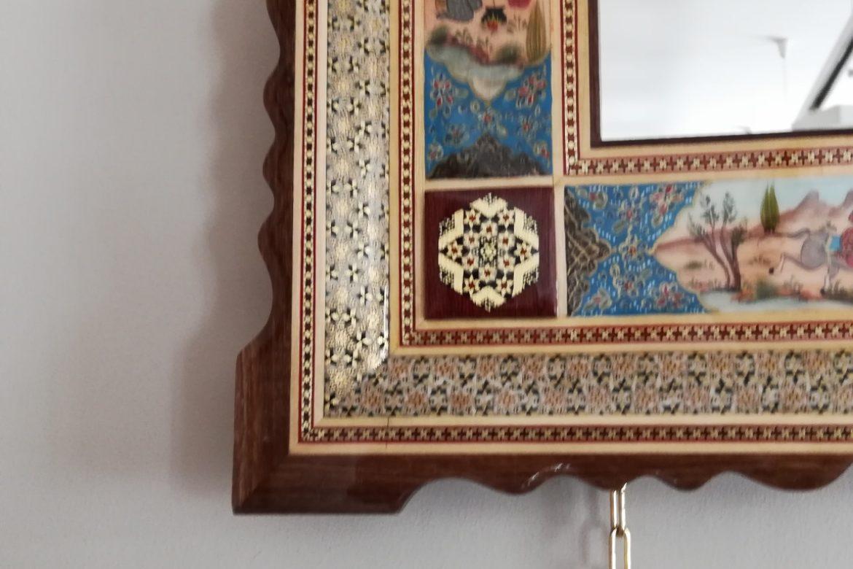 Cadre miroir marqueterie Miniatures_Galerie Shirazi_Pau_A37S-2