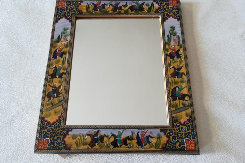 Cadre miroir marqueterie Miniatures_Galerie Shirazi_Pau_P1-12