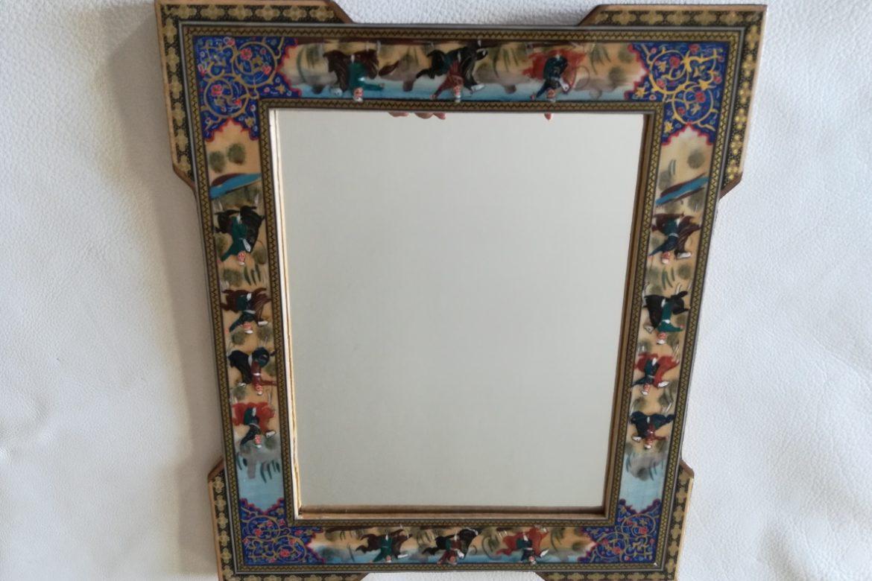 Cadre miroir marqueterie Miniatures_Galerie Shirazi_Pau_P1-14