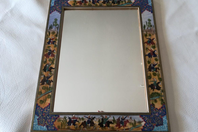 Cadre miroir marqueterie Miniatures_Galerie Shirazi_Pau_P1-15