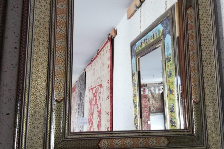 Cadre miroir marqueterie _Galerie Shirazi_Pau_A25S