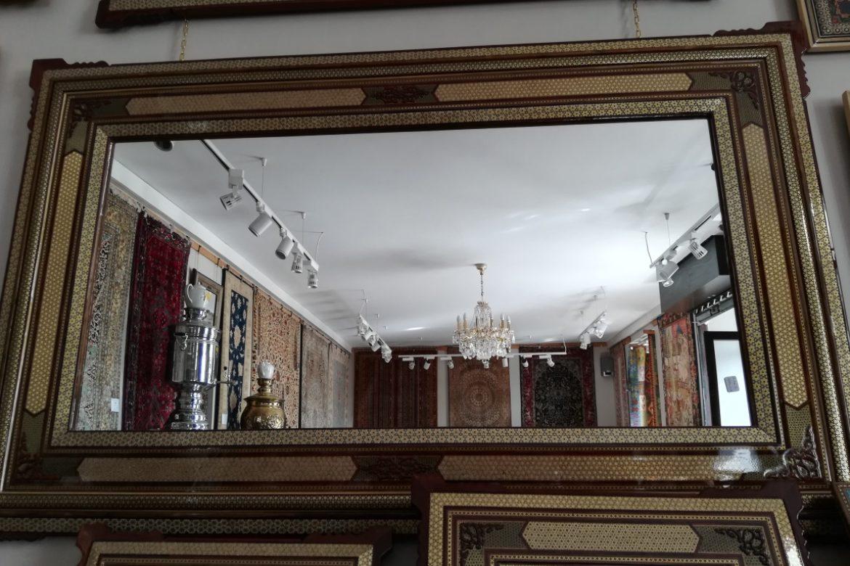 Cadre miroir marqueterie _Galerie Shirazi_Pau_A36S