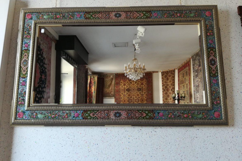 Cadre miroir marqueterie peint_Galerie Shirazi_Pau_A34SD