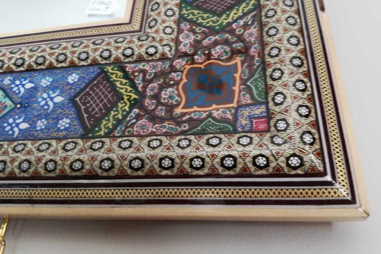 Cadre miroir marqueterie peinte _Galerie Shirazi_Pau_A34SB-1